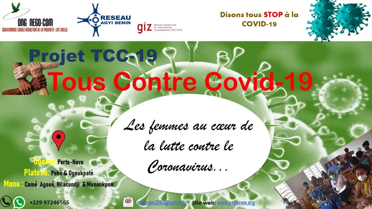 Le projet «Tous Contre COVID-19» (TCC-19): Déroulement dans le département de l'Ouémé